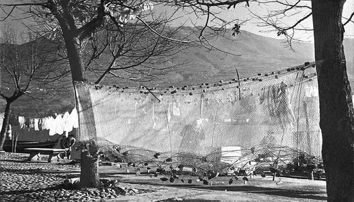 Tessitura delle reti a Montisola