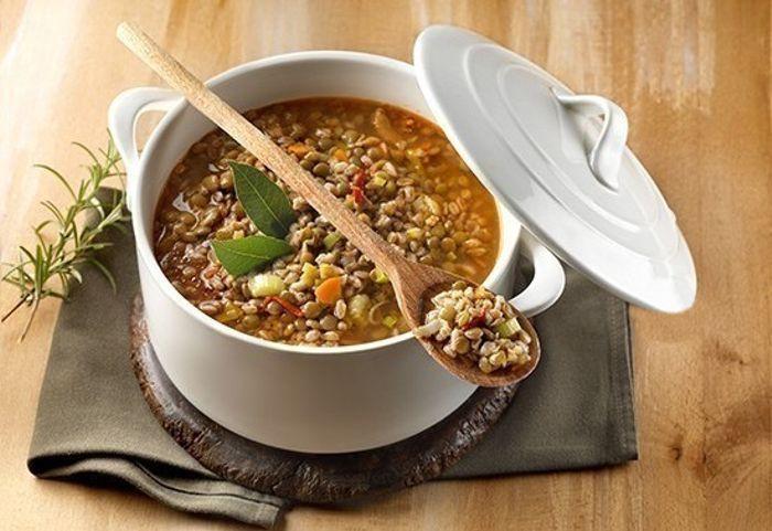 Zuppa di lenticchie e avena