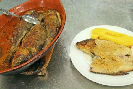 Tinca al forno con polenta - Antica Trattoria del Gallo - Clusane