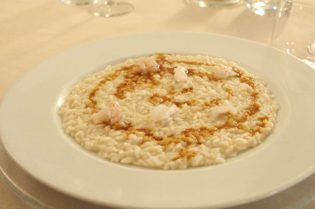 Risotto alla vaniglia con scampi | Hostraia Uva Rara - Monticelli Brusati