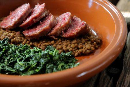 Cotechino con lenticchie e spinaci | L'Osteria San Vigilio - Concesio