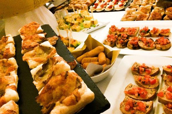 Buffet aperitivo Ristorante Terrazza Vittoria