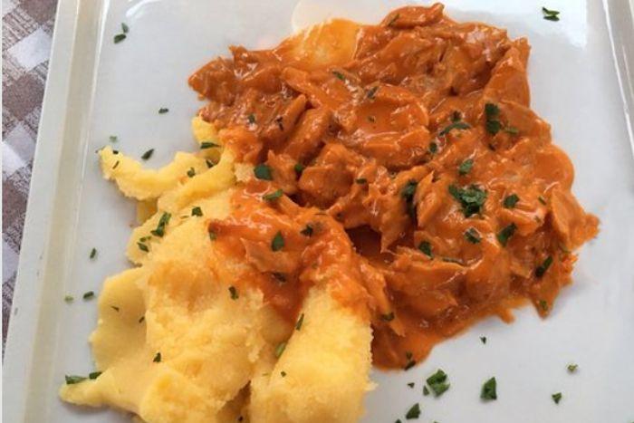 Baccalà in umido con polenta
