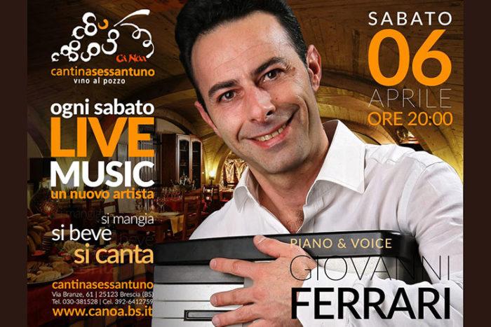 Giovanni Ferrari - Live Music - Cantinasessantuno
