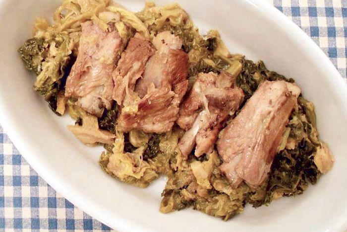 Costine di maiale con la verza