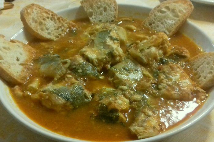 Zuppa di pesce del Garda