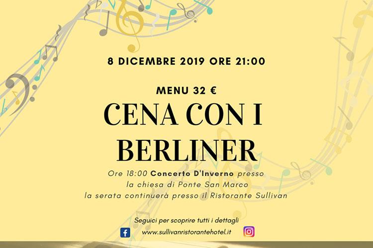 Cena con i Berliner - Sullivan di Brescia