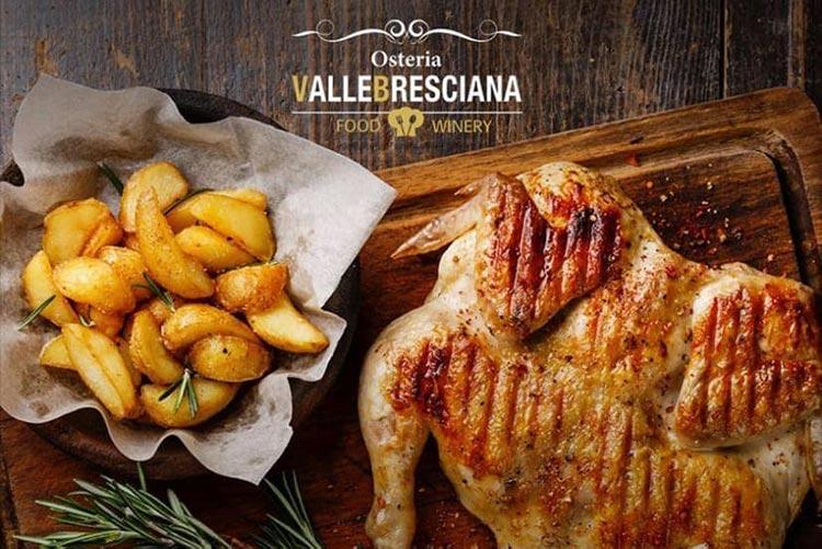Menù Galletto e patatine Osteria Valle Bresciana