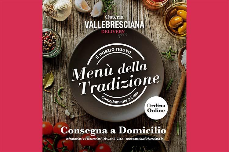 Menù della tradizione Osteria Valle Bresciana