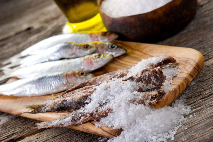 Il pesce del Garda sotto sale