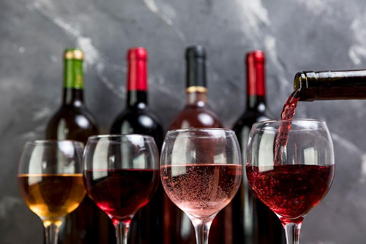 Bicchiedi di vino da degustazione
