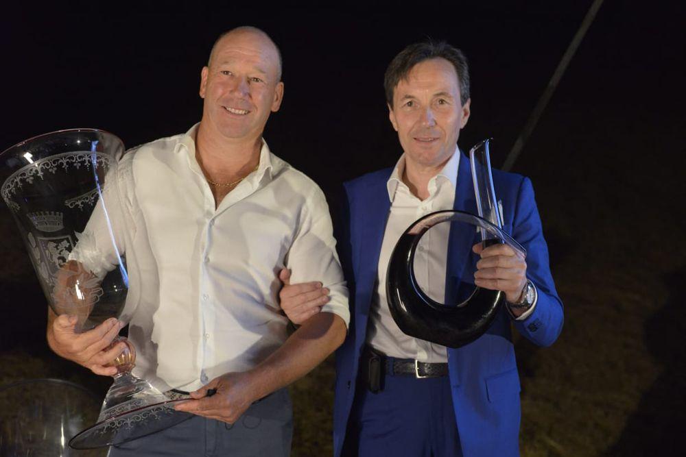 Sergio Delai e Antonio Goffi - I giandini alla casa del vino - Consorzio Valténesi