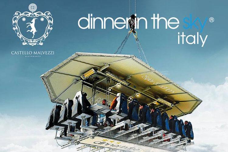 Dinner in the sky a Castello Malvezzi